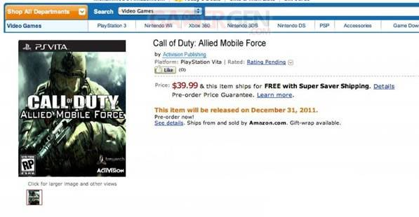 Call of Duty Allied Mobile Force Amazon
