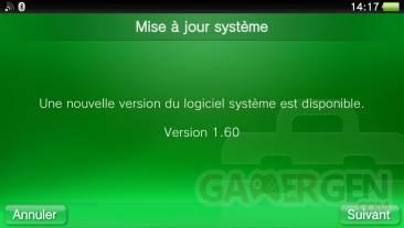 firmware 1.60 update MAJ  08.02
