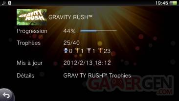 Gravity Rush daze liste des trophees 15.02.2012