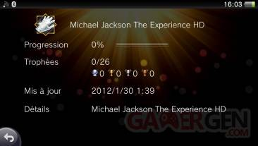 Trophees Michael Jackson The Experience HD liste complete et imagee 16.02.2012