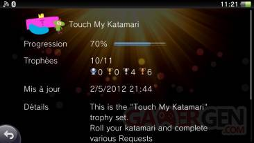 Touch My Katamari trophees 04.05.2012