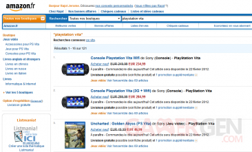 amazon france playstation vita baisse prix promotion