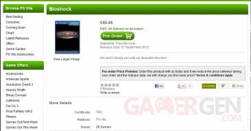 BioShock sortie zavvi