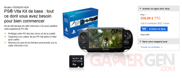 bundle psvita pack demarrage carte memoire