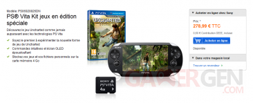 bundle psvita uncharted carte memoire