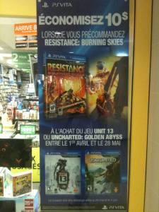EBGames Canada offre Resistance Burning Skies rabais