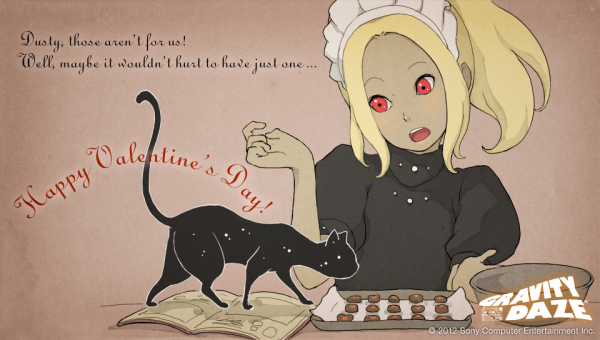 Gravity Rush carte de la Saint Valentin