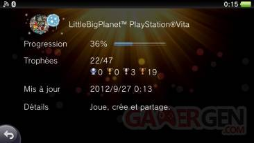 LittleBigPlanet PSVita trophees 27.09.2012.