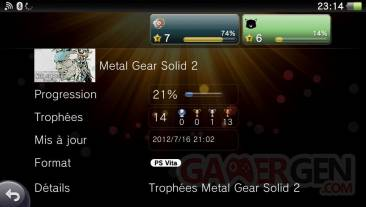 Metal Gear Solid 2 HD Edition Collection trophees 24.07 (2)