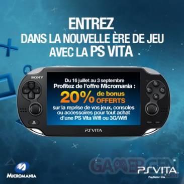 Micromania offre psvita 20 pour cent 26.07.2012