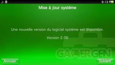 Mise à jour MaJ upatde firmware 2.06 psvita (1)