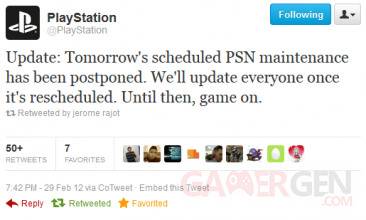 playstation network maintenance report