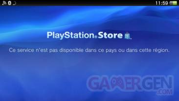 PlayStation Store Européen fermé PSVita