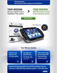 PlayStation Vita PSN Card offre 28.01.2013. (1)