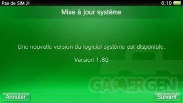 PSVita firmware 1.80 mise a jour  0018