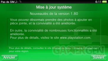 PSVita firmware 1.80 mise a jour  0022