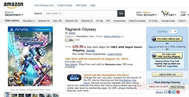 Ragnarok Odyssey Amazon
