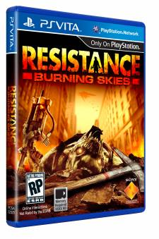 resistance burning skies cover box art jaquette