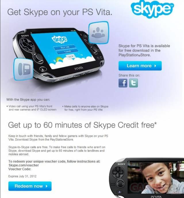 Skype PSVita