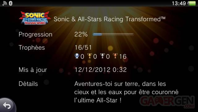 Sonic & All-Stars Racing Transformed trophees 15.12.2012 (2)