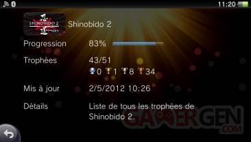 troph?es Shinobido 2 Revenge of Zen