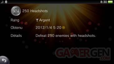 Uncharted Golden Abyss trophées ARGENT 01