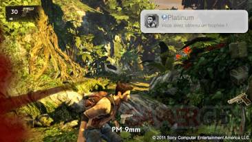 Uncharted Golden Abyss trophées platine snapshot 01